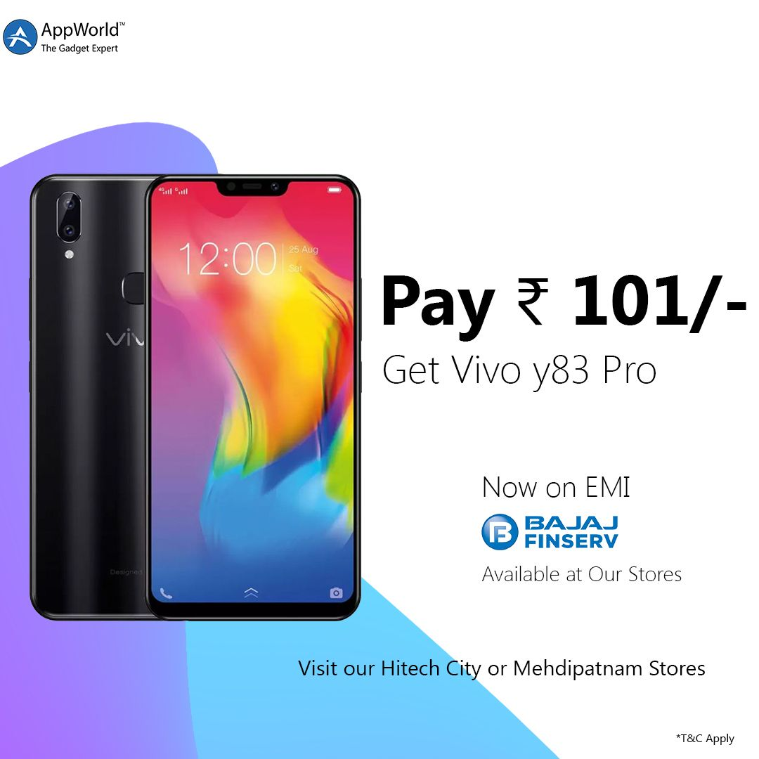 PAY Rs 101/ And Get Vivoy83Pro on BajajCard EMI