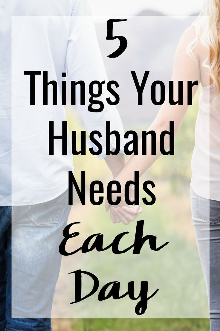 The key to a happy marriage isn't a secret. Here are 5 Things to Do for Your Husband That He Needs Each Day to keep your husband happy and your relationship on the right track! #marriage #marriagetips #marriageadvice #happymarriage #husbands #wives #couples