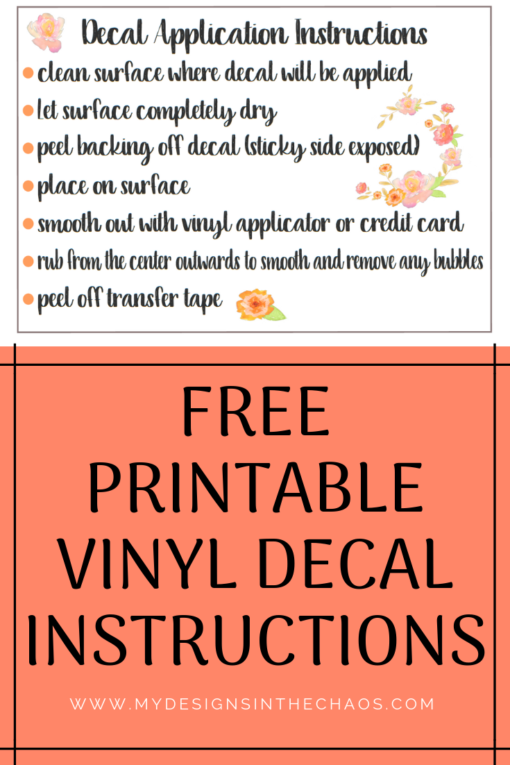 picture about Printable Vinyl Decal Instructions referred to as Decal Computer software Recommendations Printable Do it yourself Crafts