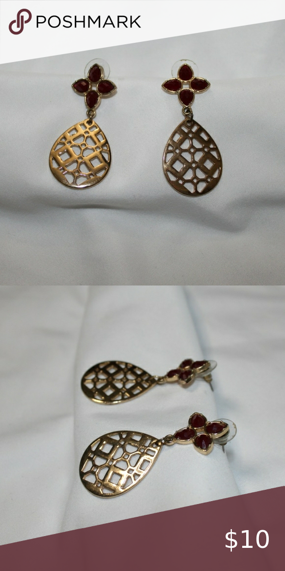Geometric Teardrop Earrings