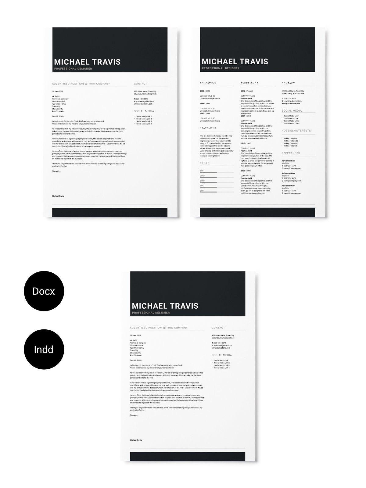 Black Minimal Resume Minimal resume, Resume