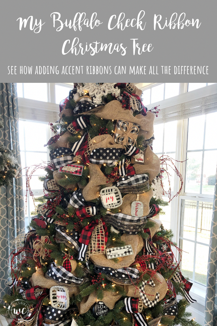 Christmas Songs Emoji Quiz Ribbon On Christmas Tree Buffalo Check Christmas Christmas Decorations