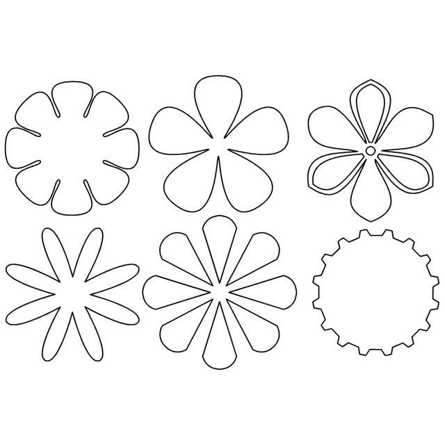 Imagenes De Flor De 5 Petalos Para Colorear Flores En Foami Moldes Flores En Foami Plantillas Para Flores De Papel