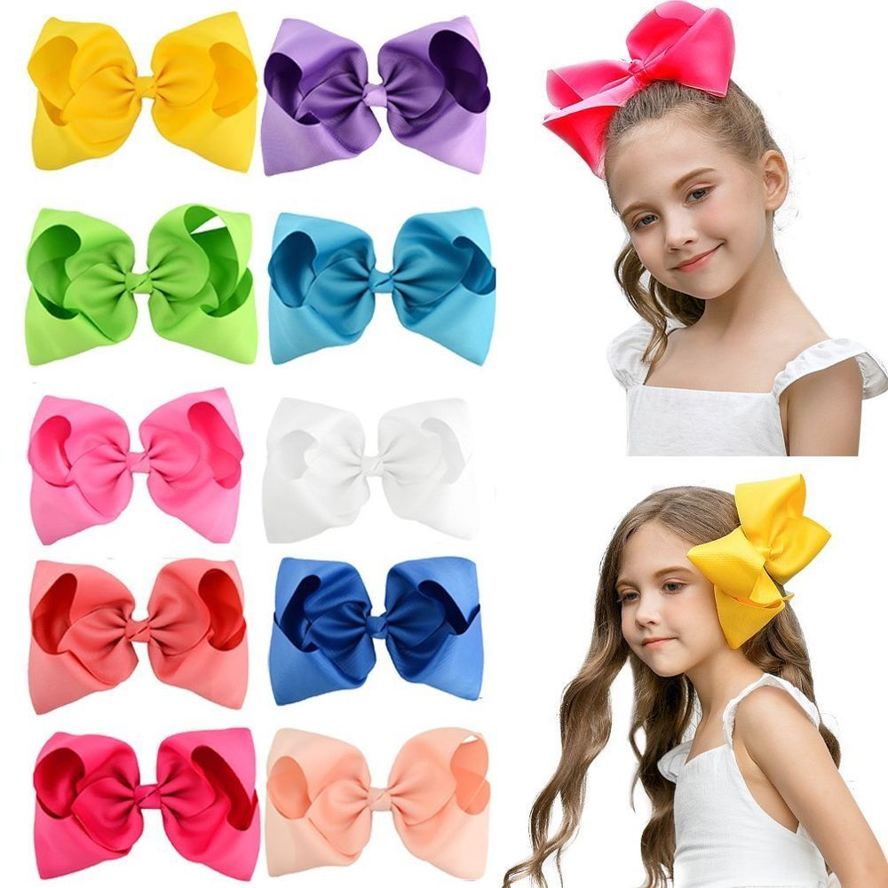 DEEKA Grosgrain Ribbon Bows Headbands Fashion Hair Bows Hair Band for Baby Girls