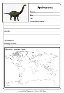 apatasaurus information page apatosaurus worksheet dinosaurs dinosaur worksheets dinosaur. Black Bedroom Furniture Sets. Home Design Ideas