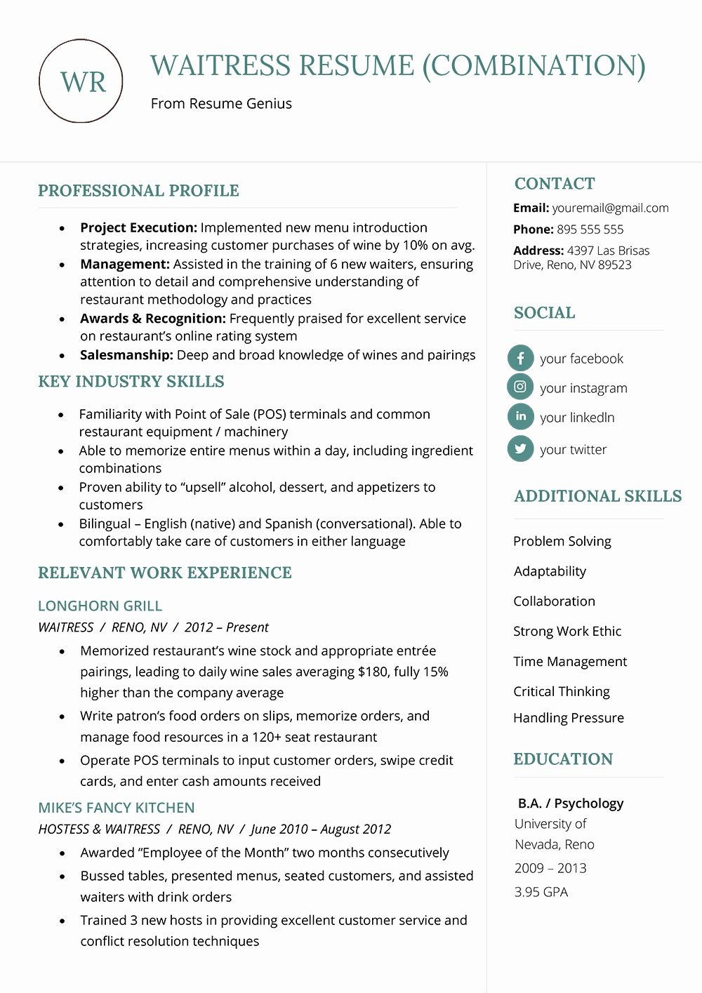 Describe the Components Of An Effective Resume Elegant