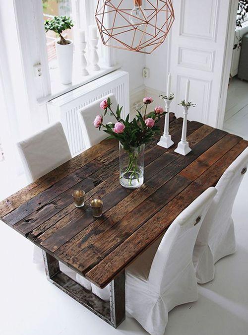 Tavolo rustico in legno da cucina a - Prezzo Scontato | Tavole di ...