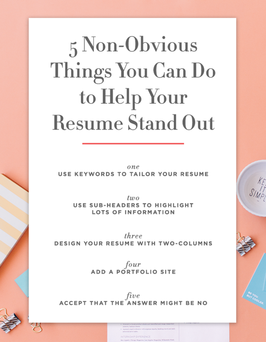 5 non obvious things you can do to make your resume stand out hello