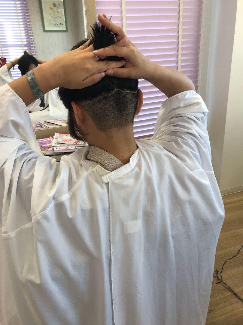 先日のヘアドネーションの結果 髪型 メンズ 襟足 刈り上げ ヘアドネーション