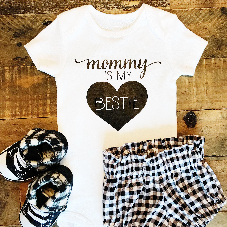 Mummy is my Bestie Baby Vest Babygrow Bodysuit Baby Shower Gifts New Mum Gifts