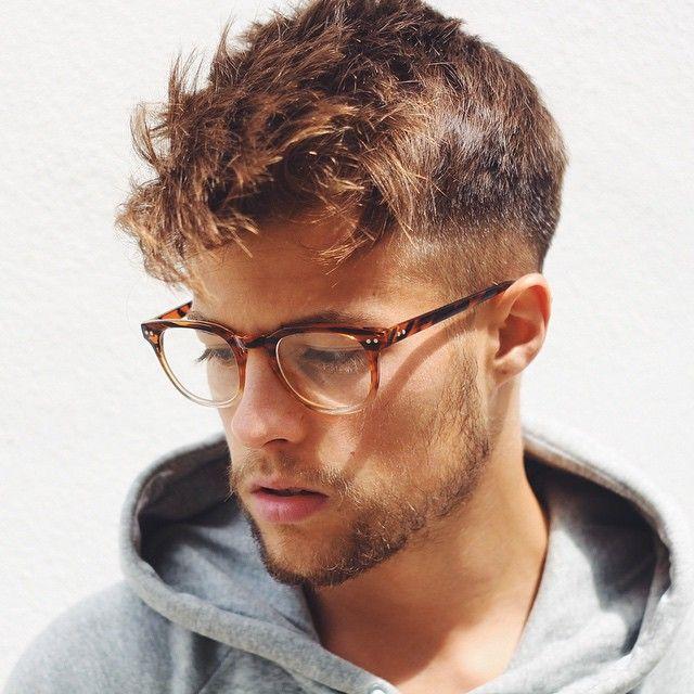 Manner Frisuren | Haarschnitt männer, Männer brillen
