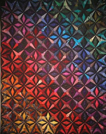 """Gwendolyn Magee Art Quilt """"Jewel Fire"""""""