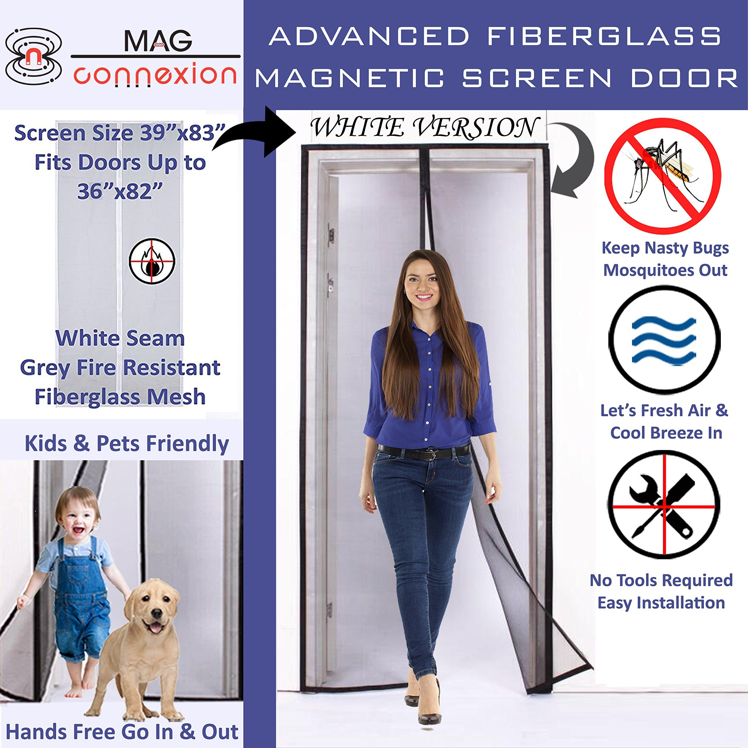 Elegant Dog U0026 Cat Owneru0027s New Style Auto Smart Pet Screen Door With Premium Fire  Resistant Fiberglass Mesh| No More Whining U0026 Scratching To Be Let In Or Out  | Fit ...