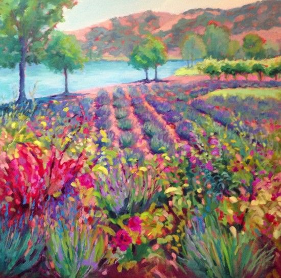 "Janet Vanderhoof - Lion's Peak Garden 36"" x 36"" oil on canvas"
