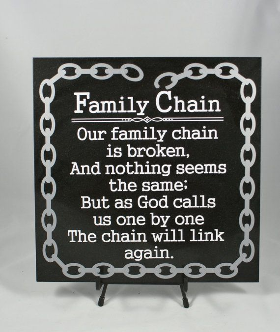 FAMILY CHAIN   Memorial Gift   In Memory Of   Loss Of Loved One   Family  Memorial   Sympathy Gift   Death Of Relative   Loss Of Relative