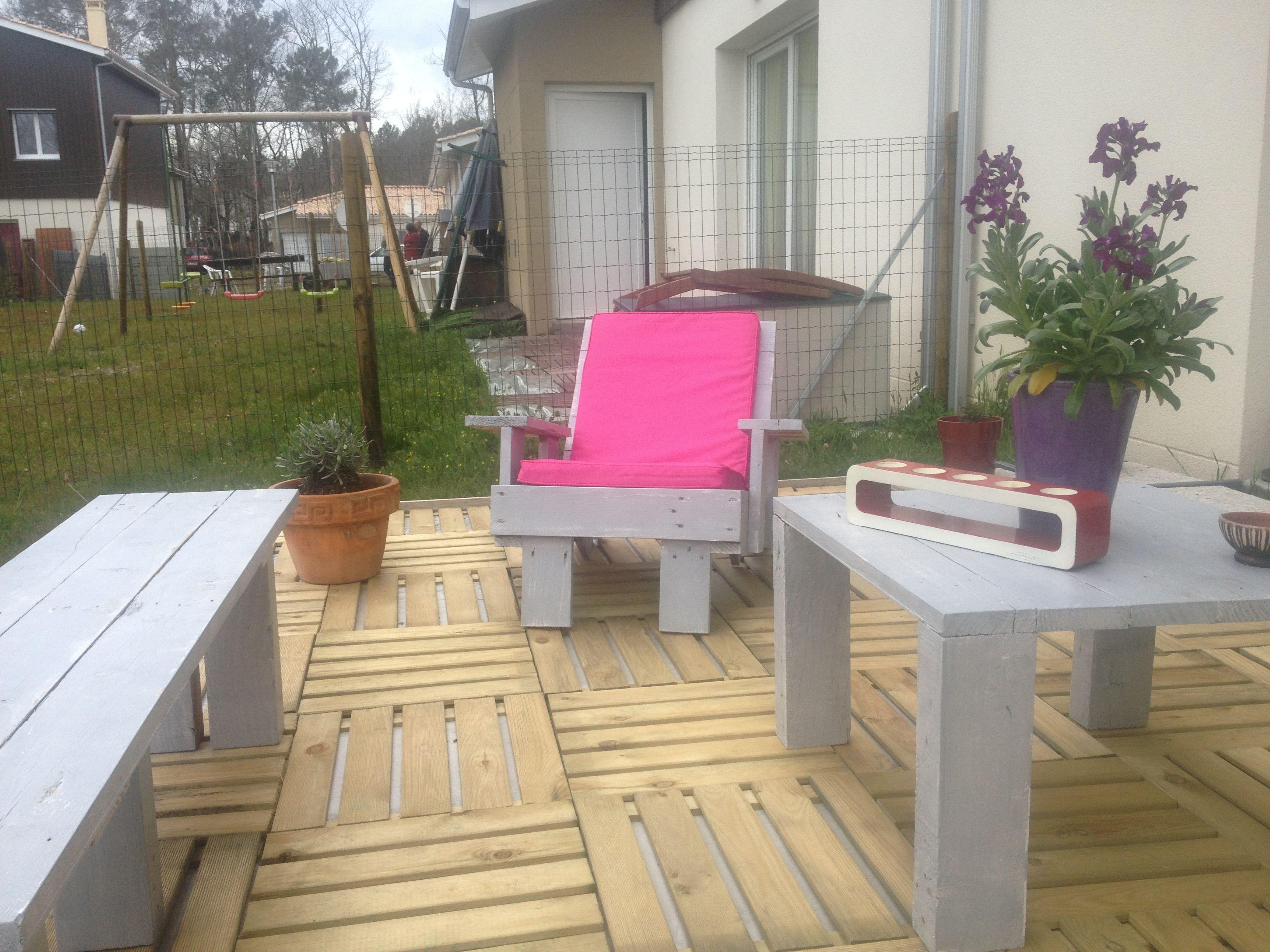 salon de jardin en bois de palettes recyclés...   Pallet   Pinterest ...