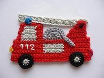 Feuerwehrauto Häkelapplikation Zeynep Pinterest