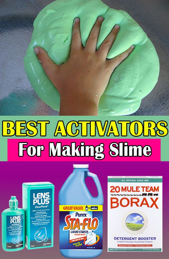 How to make good clear slime without borax