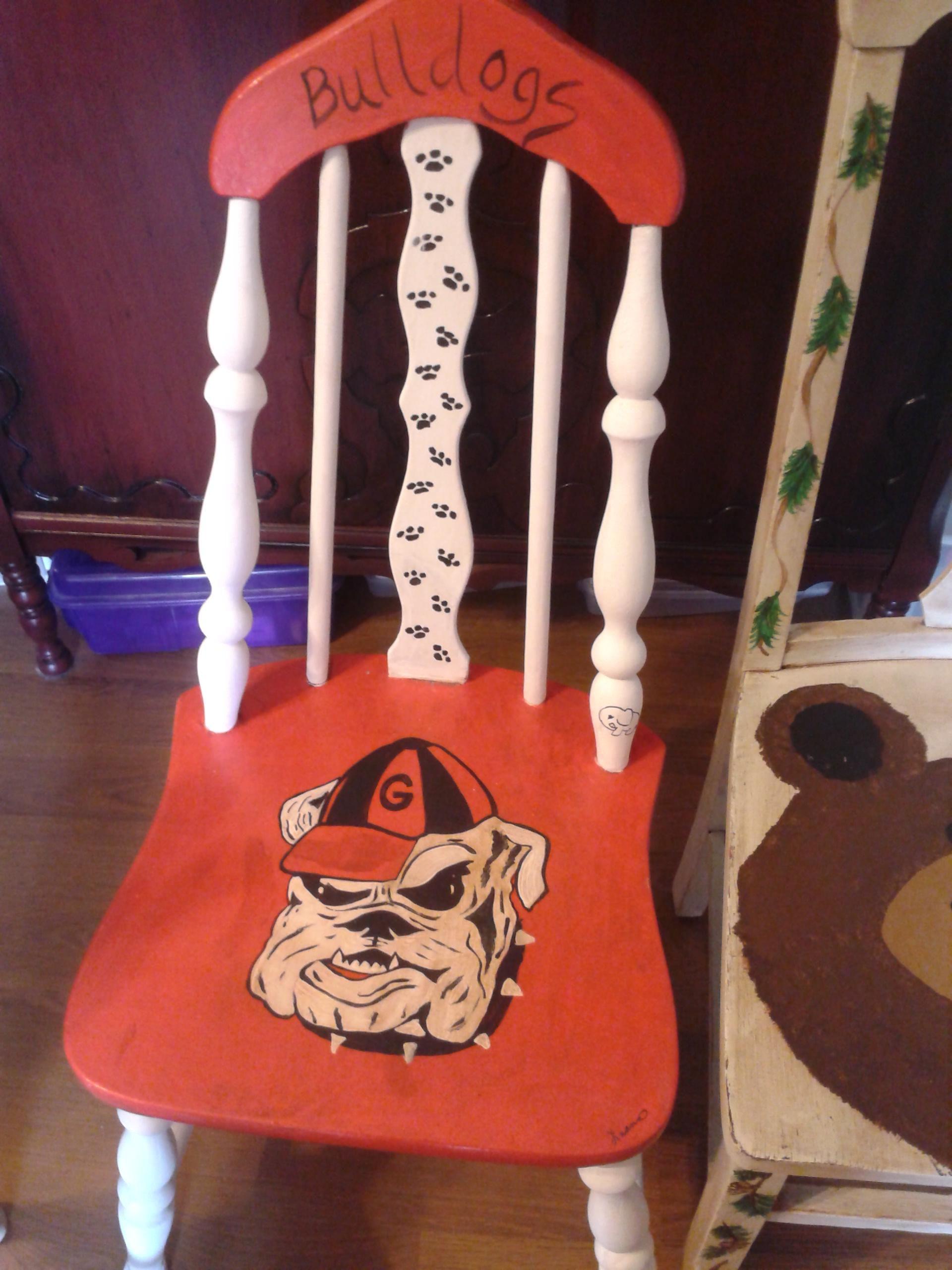 Georgia Bulldog Chair