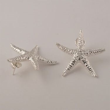 Silver Starfish Earrings By Andrea Corson At Bestamericanarts