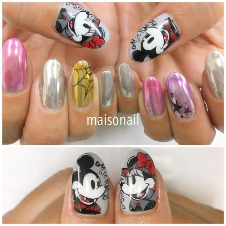 Best 50 Mickey And Minnie Mouse Nail Designs 20172018 Mickey And