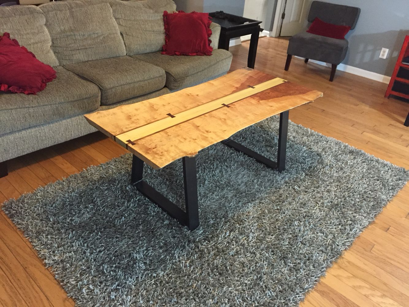 River birch live edge coffee table furniture pinterest birch river birch live edge coffee table geotapseo Choice Image