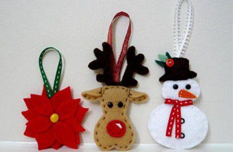adornos navideños caseros - Buscar con Google fieltro navidad - objetos navideos