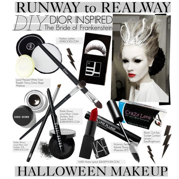 on polyvore featuring beauty victorias secret bobbi brown cosmetics nars cosmetics christian dior diy halloween contest and halloweenmakeup