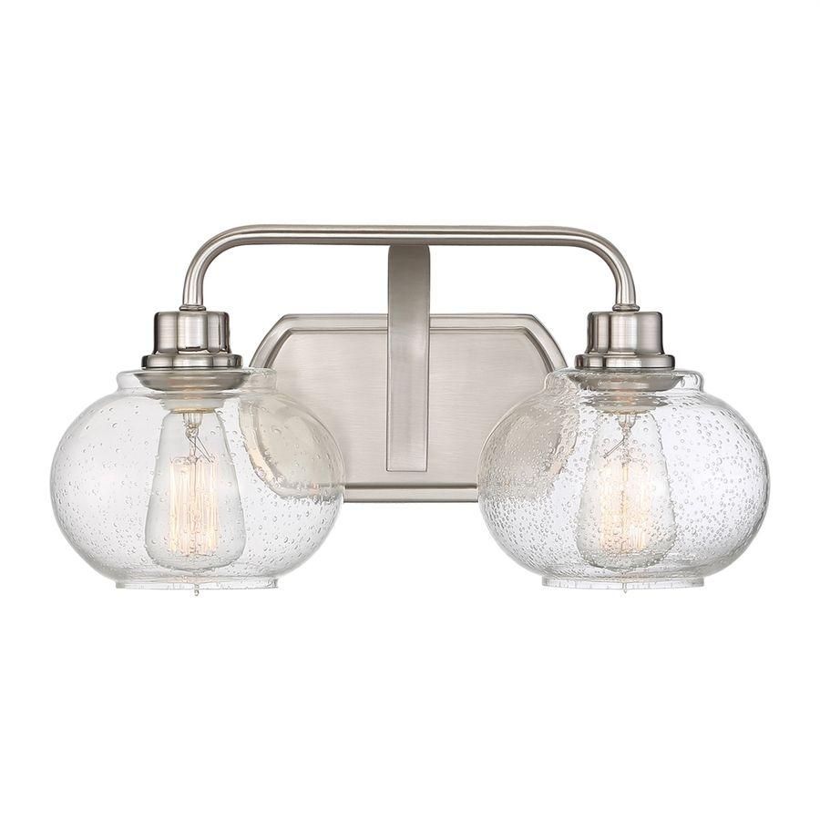 Quoizel trilogy light in brushed nickel orb vanity light