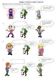 English worksheet: Indirect speech / Direct speech | teaching ideas