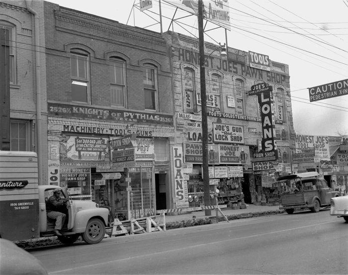 1959 Pawn Shop Dallas Dallas Texas Dallas Lone Star