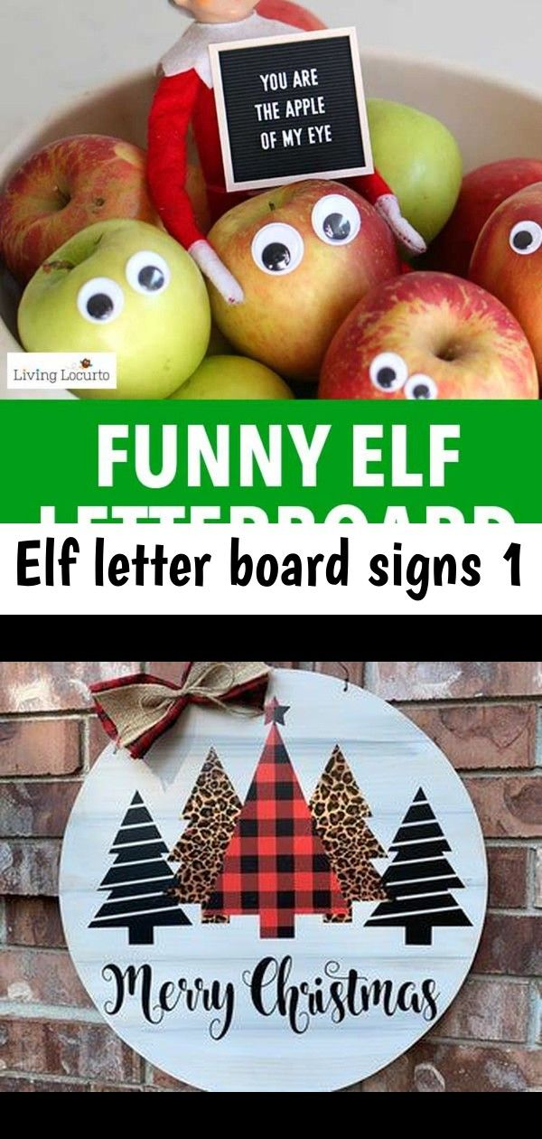 Elf letter board signs 1 #elfontheshelfarrival
