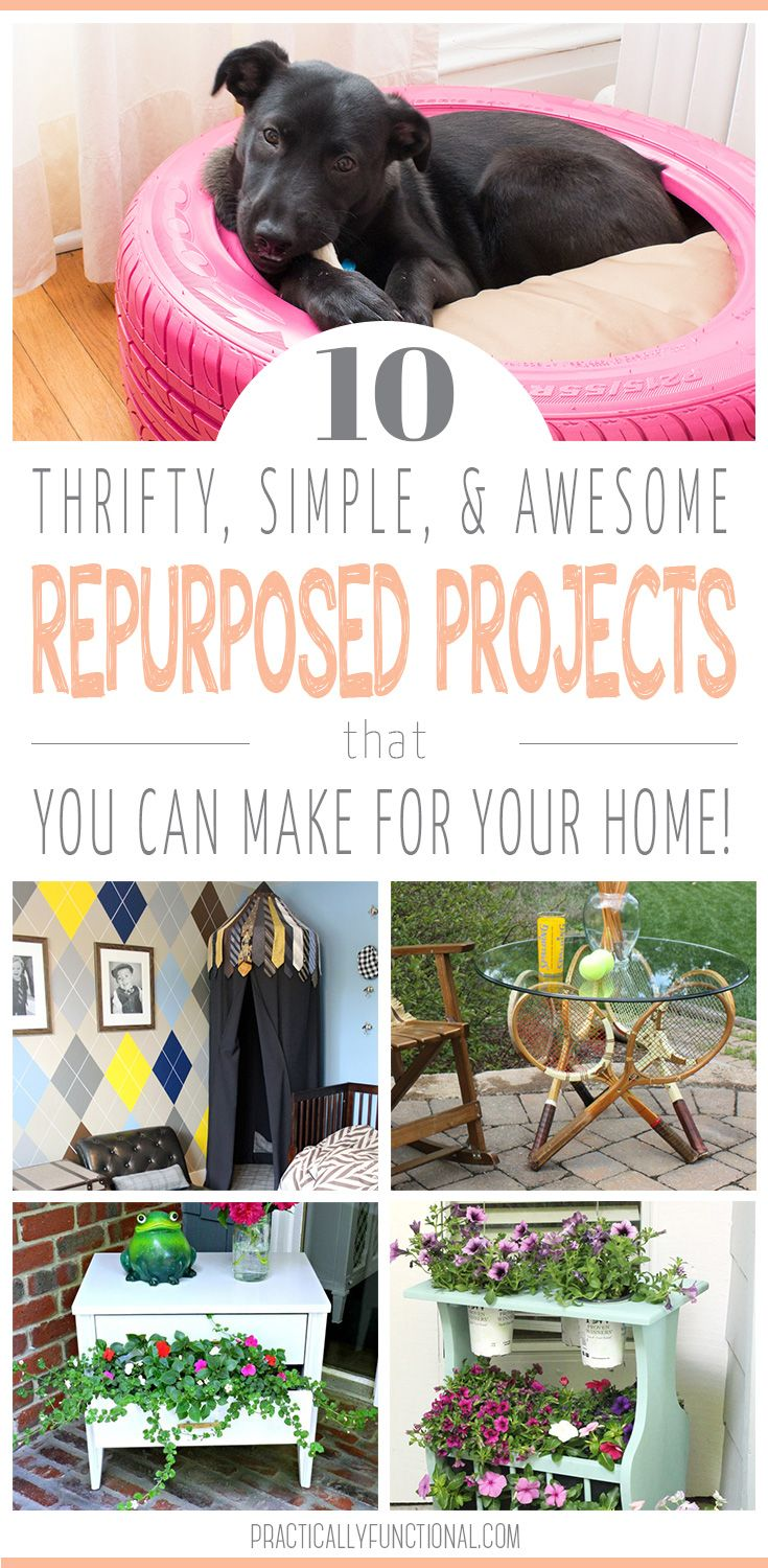 10 Repurposed Project Ideas | Practically Functional | DIY & crafts ...