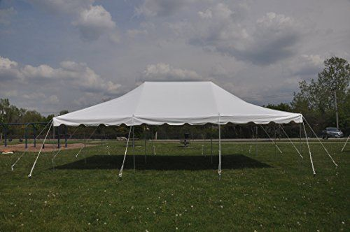 20 Ft By 30 Ft White Canopy Pole Tent Complete Set With Canopy Poles White Canopy Gazebo