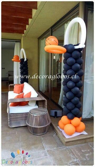 Canasta De Baloncesto Basket Basketball Basketball Birthday Parties Basketball Theme Party Basketball Party