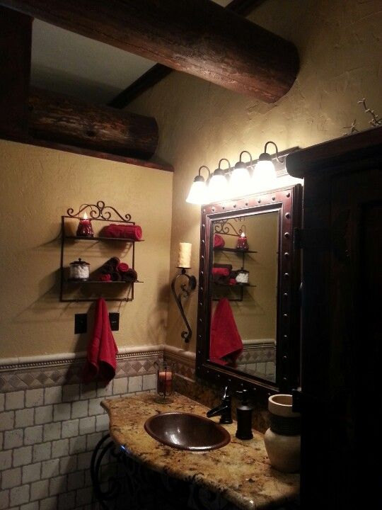 Wrought iron bathroom vanity | My Home | Pinterest ...
