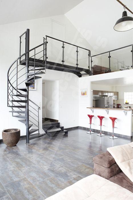 exemple escalier interieur trendy agrandir escalier en bois droit with exemple escalier. Black Bedroom Furniture Sets. Home Design Ideas