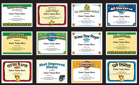 Basketball certificates to recognize youth basketball players basketball certificates to recognize youth basketball players coaches and team parents create lasting keepsakes yelopaper Gallery