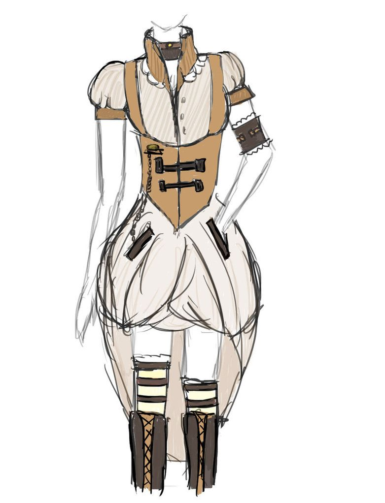 Steampunk Victorian Dresses Drawing