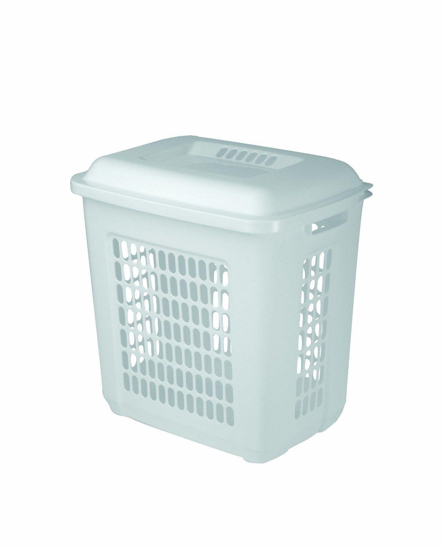 United Solutions Ln0023 One And A Half Bushel White Laundry Hamper