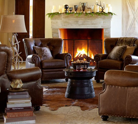 Lansing Leather Recliner Leather Armchair Minimalist Living Room Design Minimalist Living Room