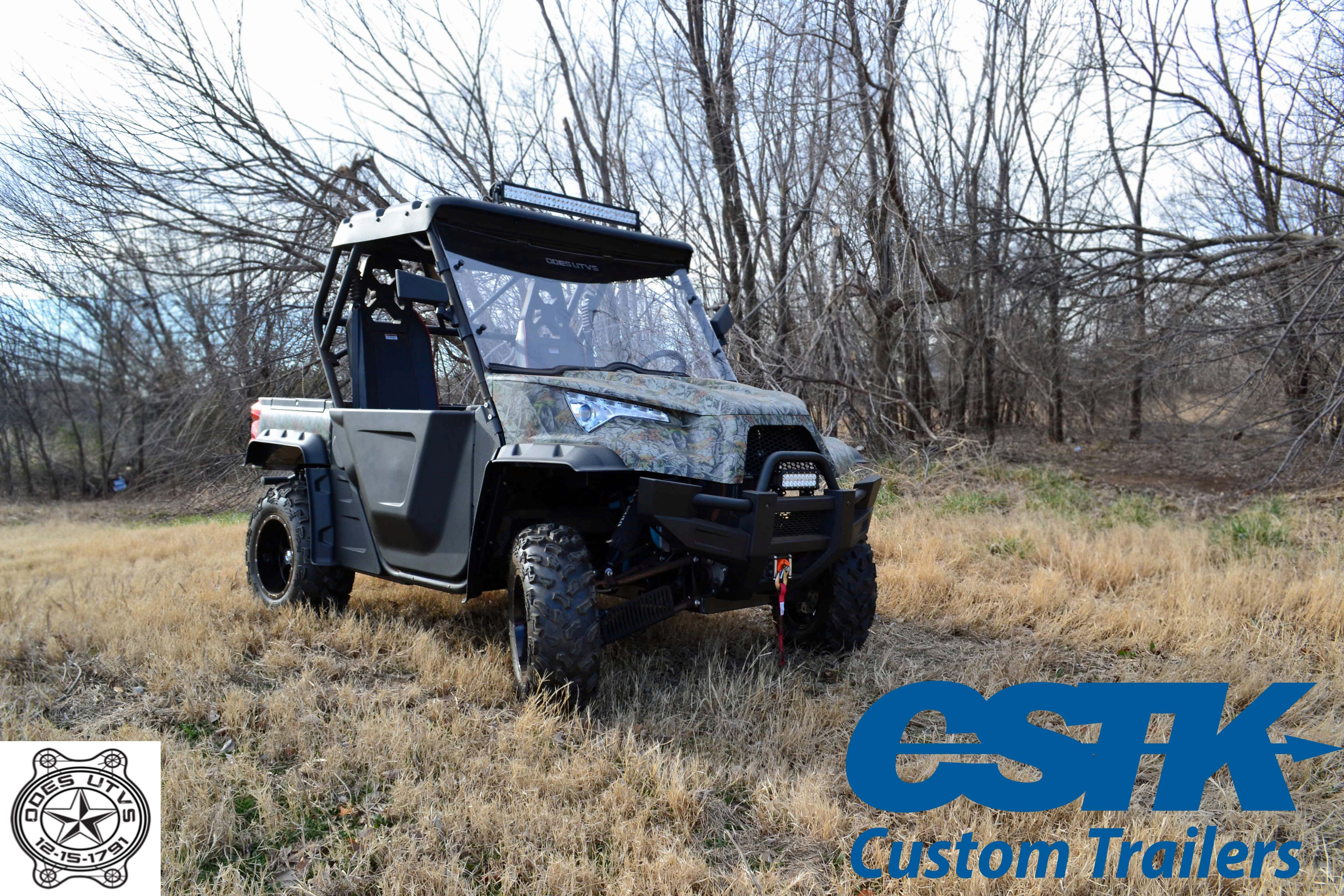 Odes utv 800cc dominator x 2 in camo led light bars roll cage led light bars roll cage frontrear winch dump bed all standard on the 2016 model cstk custom trailers is an authorized dealer and service center mozeypictures Gallery