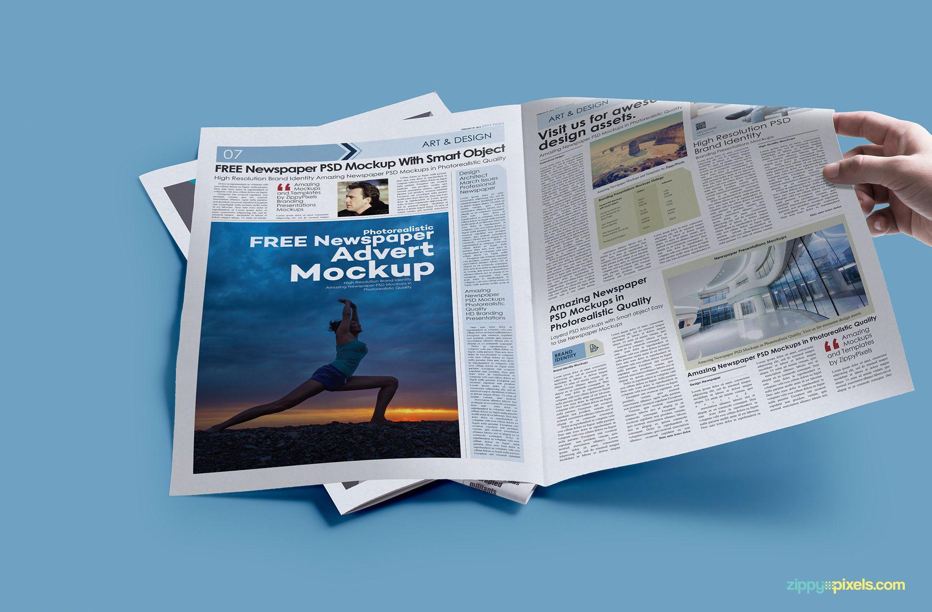 Free Print Ad Mockup PSD | Advertisement Mockups | Print ads