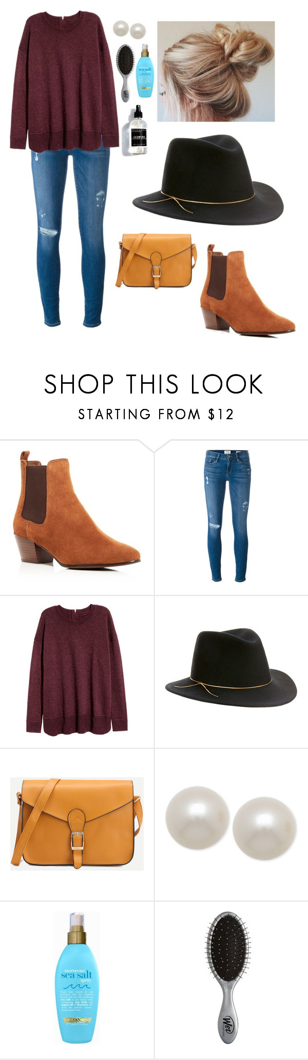 """Untitled #62"" by kikibrinson02 on Polyvore featuring Sam Edelman, Frame Denim, Eugenia Kim, Honora, Organix and The Wet Brush"