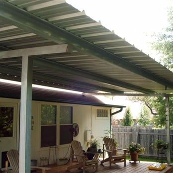Patio Cover Free Standing Over Deck All Galvanized Steel