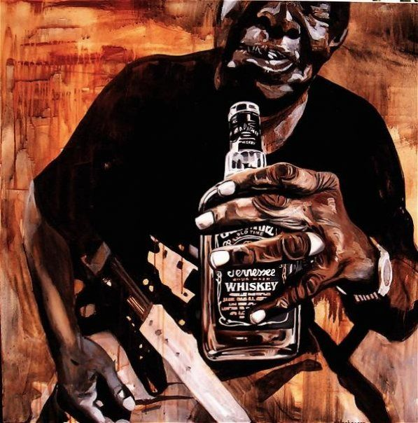 Blues Player Painting by Ray Stephenson - If you'd like this original artwork, please E-Mail RayboMusic@bellsouth.net today! ○○○ #BluesMusic #Art #Nashville #Tennessee #Artist #acrylic #Music #guitarArt #Delta #paintings #ForSale #DeltaBlues #art #RayStephenson #painting #countrymusic #Blues #Guitar #JackDaniels #art #artwork #original #ArtForSale #BluesMusicArt #BluesArt #Mississippi #acrylic #AfricanAmericanArt #Blues #Soul