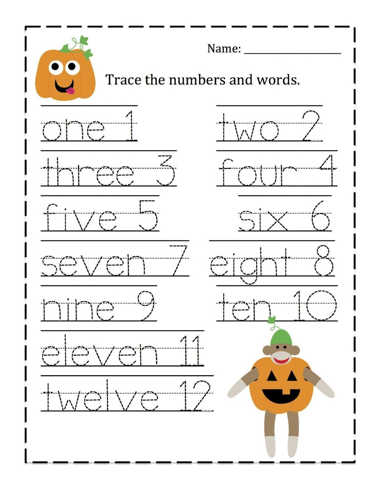 Number Trace Worksheet 1 10 Tracing Numbers 1 10 Free