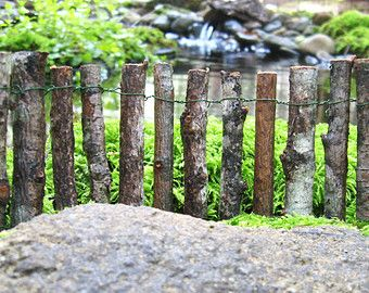 Fairy Garden Fence Handcrafted Miniature Fence Made With Real Wood