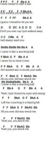 Flute Sheet Music Wrecking Ball Pop Music Pinterest Music