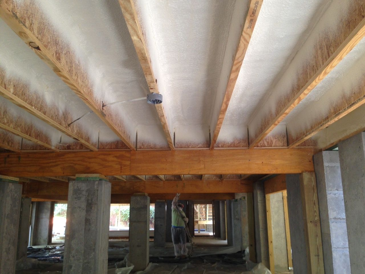 Insulation Basement Ceiling Wiring Spray For Ideas Rh Pinterest Co Uk With Vapor